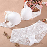 Women Underwear Intimates Set Push up Bra Set Transparent Lace Bra and Panty Set Lingerie Set