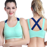 EP Sexy Sports Bra Top for Fitness Women Push Up Cross Straps Yoga Running Gym Femme Active Wear Padded Underwear Crop Tops