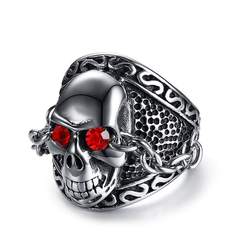Rhinestone ghost head casting ring