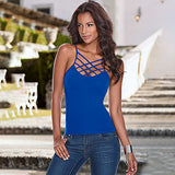 Tank Tops Women Camisole Vest simple Stretchable Ladies Slim Sexy Strappy Camis Tops
