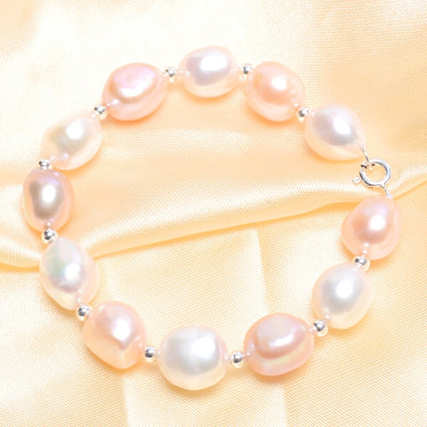 10-11mm big Natural Baroque Pearls Bracelets