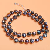 Real Natural Baroque Pearl Jewelry Sets Gary Black Necklace Bracelet For Women New Arrival