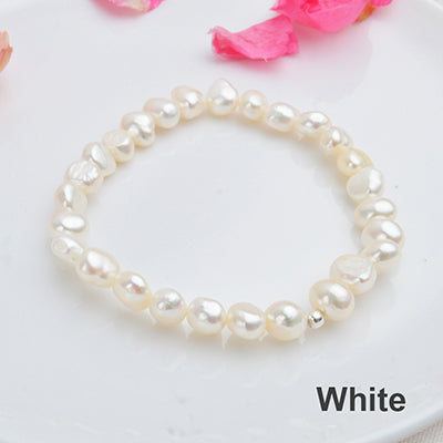 Real Natural Freshwater Baroque Pearl Bracelets & Bangles Women 925 Sterling Silver Beads Jewelry Gift