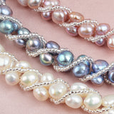 Real Natural Freshwater Pearl Handmade Jewelry Sets & More  4 Colors Necklace Earrings Bracelet for Women  Bridal Gift