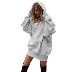 Feitong Winter Women Sweatshirt Hoodies Pullover Solid Girls Causal Long Sleeve Oversized Hoody Sweatshirt sudaderas mujer