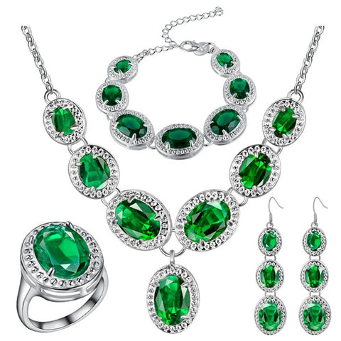 925 Sterling Silver Wedding Jewelry Sets