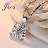 Cool Ice Flower Original Design 925 Sterling Silver Necklace Earrings Bracelets Jewelry Sets for Women Wedding Engagement Bijou