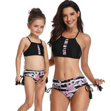 Family Matching Swimsuit Mother Daughter Kids Baby Women Girl Bikini Swimwear Mother Daughter Matching Clothes