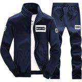 Men Sportwear Sets Tracksuit Male Outwear Sweatshirts Patchwork Men Hoodies Stand Collar Male Tracksuit 4XL