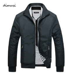 Spring Autumn Men's Jacket Male Overcoat Casual Solid Jacket Slim Fit Stand Collar Zipper Men Jackets Coat 5XL
