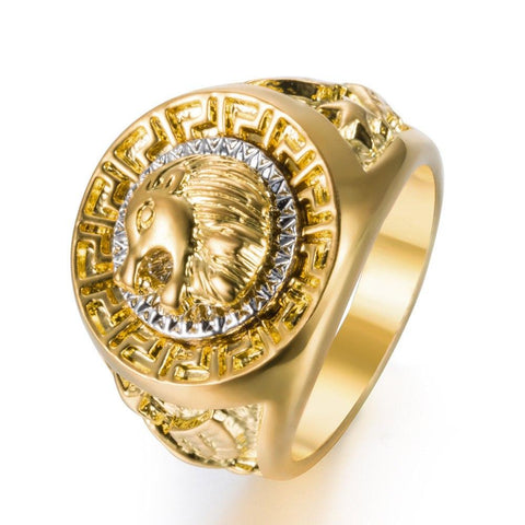 Lion Ring Championship Rings Men Gold Color Rings Hip Hop Rings
