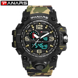 Men Military Watch 50m Waterproof Wristwatch LED Quartz Clock Sport Watch Male Sport S Shock Watch Men