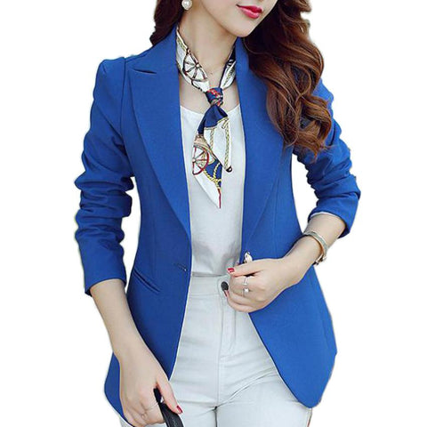 (Green Blue Black) Women Blazers And Jackets Long-sleeved Suit Ms. Blazer For Ladies - Markand Design