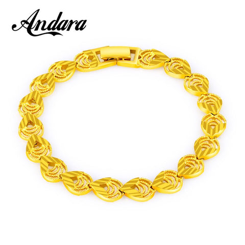 Heart Bracelet Women Men Pulseras Gold Color Vintage Jewelry 8MM Link Chain Bracelets, Heart Shape Pulseras Mujer JH116