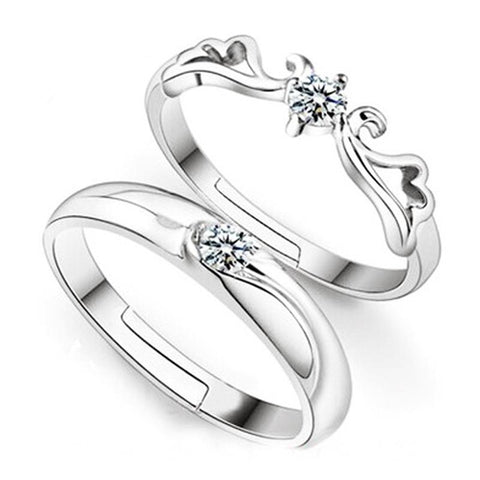 925 Sterling Silver Rings Women Men CZ   Rings Jewelry For Wedding Romantic Gift Top Quality - Markand Design