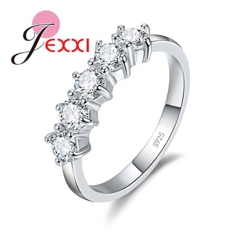 925 Sterling Silver Wedding Engagement Rings For Women Jewelry Cubic Zircon Crystal Proposal Ring Accessory Gifts - Markand Design