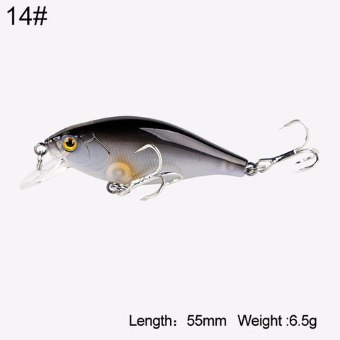 Kingdom Lifelike sinking Minnow Fishing lures 5.5cm 6.5g VMC Hooks Fish Wobbler Tackle Crangkbait Artificial Hard Baits 7501