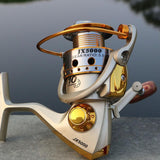 Metal Spinning Fishing Reel 10BB 5.5:1 Fishing tackle Pesca Carrete Spinnning Reel Feeder Carp Fishing Wheel 1000-7000