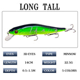 Multi-style Road Lure New Bionic Sea Fishing Bait Swimbait Hard Fishing Bait 3D Eye Artificial Bait 5 Color