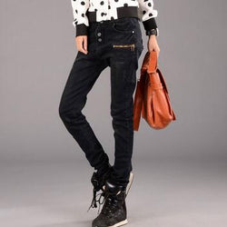 New  Korean Fashion Jeans Woman Casual Loose Harem Pants Slim Denim Jeans Women Plus Size Trousers