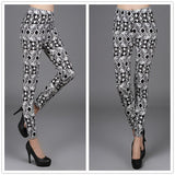 New  Women Pants Trousers For Ladies New Style Black and White Plaid Leggings Houndstooth Casual Leggings