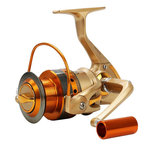 New Saltwater Spinning Fishing Reel HF500-9000 Series Metal Spool Carp Fishing Reels Coil Wheel Tackles 12BB