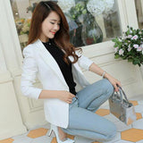New Style Ladies Long-sleeved Slim  Small Suit Blazer Women Jacket  Office Lady Suits