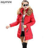 New Winter Coat  Fashion Women Outerwear Thicken Slim Female Coat Long sleeve Warm Winter Coat