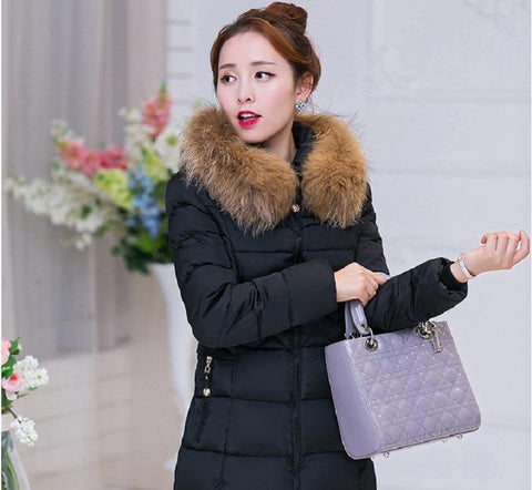 HIGH QUALITY Winter Parka  Women Fur Jackets LONG Thick Parkas