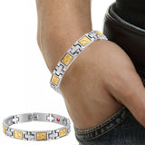 Jewelry stainless steel magnetic energy bracelet health buddha bracelet bangle