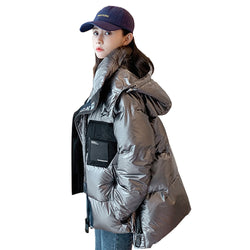 Thick coat winter jacket women Down jacket for female students loose short bread coat thickened jacket 207
