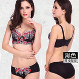 Underwear women 6 Colors women bra set sexy push up bra set women  embroidery plus size bra and panty set women underwear set