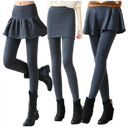 878deaded25e3 1 Piece Women's Leggings Solid Skirt With Pants Casual Skinny Autumn  Footless Legging Female Pencil Pants