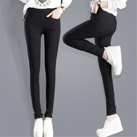 Very  Sexy Solid Pencil Pants Women's Full Length