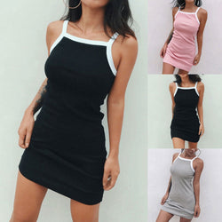 Casual Women Solid Sexy Party Dress Vest Dresses Sleeveless Strap Hot Sundress Slim  Prom Feminina Mini Dress - Markand Design