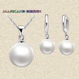 Top Quality Real freshwater pearl jewelry set women,natural pearl sets 925 sterling silver jewelry girl birthday gift