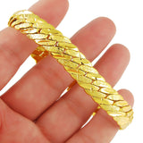 Wholesale Men's Chunky Men's Hand Chain Bracelets 24k Gold Color Link Chain Bracelet For Women Jewelry