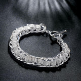 Wholesale Price 925 Sterling Silver Chain Link Bracelet For Women Men Trendy Jewelry Cuff Bracelet Top Quality