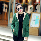 Women Autumn&Winter Jacket  New Short Slim Winter Coat Snow Wear Wadded Jacket Female Hooded Cotton-Padded Jacket Outerwear