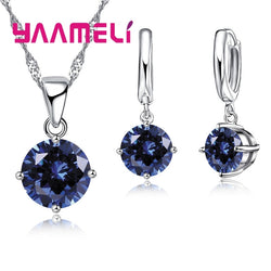 8 Color Women Wedding Jewelry Sets