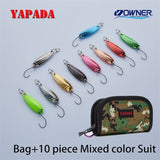 YAPADA Spoon 009 Fly Leaf 5g/7g OWNER Single Hook Multicolor 24-28mm Zinc alloy Metal Spoon Fishing Lures Trout