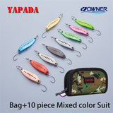 YAPADA Spoon 012 New Leech 5g/45mm 7.5g/51mm OWNER Single Hook Multicolor Zinc alloy Metal Small Spoon Fishing Lures Trout