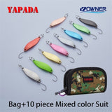 YAPADA Spoon 013 Loong Claw 5g/7.5g 45-51mm OWNER Single Hook Multicolor Zinc alloy Metal Small Spoon Fishing Lures Trout