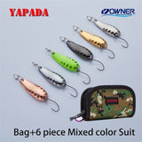 YAPADA Spoon 015 Gossip 2.5-7.5g OWNER Single Hook 30-45mm Multicolor Metal Zinc alloy Spoon Fishing Lures