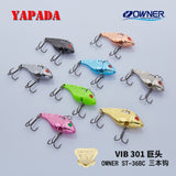 YAPADA VIB 301 Tycoon 5g/7g OWNER Treble Hook 35-38mm Feather Multicolor Zinc alloy Metal VIB Fishing Lures