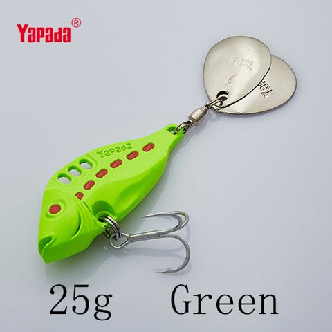 YAPADA VIB 305 Six Point 10g/15g/20g/25g Treble HOOK+Rotating Sequins 40mm/46mm/50mm/53mm Metal VIB Multicolor Fishing Lures