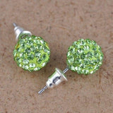 New Design  Round Disco Ball Piercings Studs Earring Fashion Jewelry for Woman Black Silver Party Rhinestones Earrings