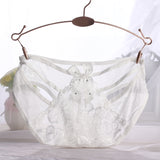 1PC Sexy Women Lady Lace Bow Flower V-string Briefs Panties Thongs G-string Lingerie Underwear Top - Markand Design