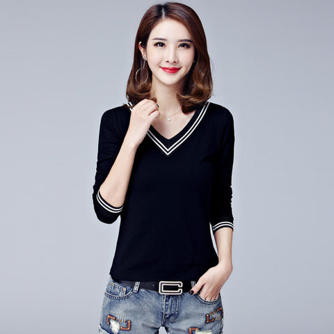 T-shirts For Women Cotton T Shirt Ladies Winter Top Tee Solid Poleras Mujer Turtleneck Female T-shirt Camisetas Plus size XXL