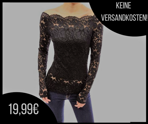 Gothic Lace Floral Bluse